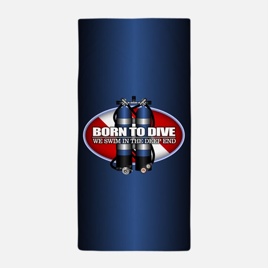 Born To Dive (ST) Beach Towel