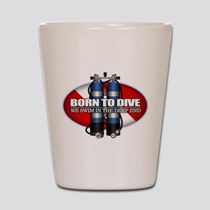 Born To Dive (ST) Shot Glass