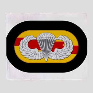 75th Ranger Airborne Throw Blanket