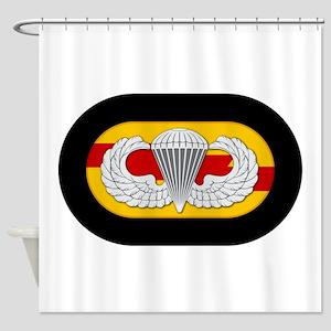 75th Ranger Airborne Shower Curtain