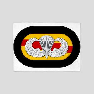 75th Ranger Airborne 5'x7'Area Rug