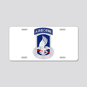 173rd Airborne CFMB Aluminum License Plate