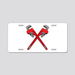 Monkey Wrenches Aluminum License Plate
