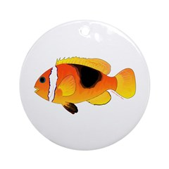 Fire Clownfish Ornament (Round)