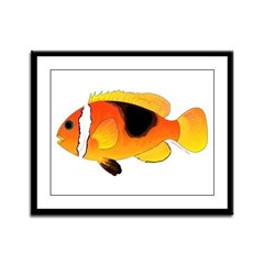 Fire Clownfish Framed Panel Print