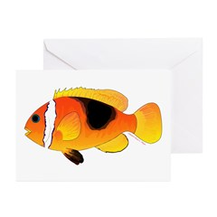 Fire Clownfish Greeting Cards