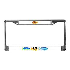 Fire Clownfish License Plate Frame