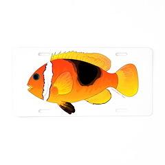 Fire Clownfish Aluminum License Plate