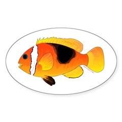 Fire Clownfish Decal