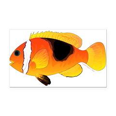 Fire Clownfish Rectangle Car Magnet