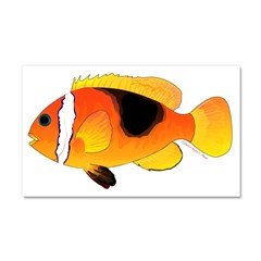 Fire Clownfish Car Magnet 20 x 12