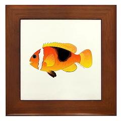 Fire Clownfish Framed Tile