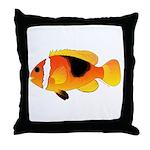 Fire Clownfish Throw Pillow