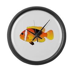 Fire Clownfish Large Wall Clock