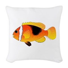 Fire Clownfish Woven Throw Pillow