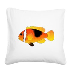 Fire Clownfish Square Canvas Pillow