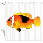 Fire Clownfish Shower Curtain