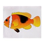 Fire Clownfish Throw Blanket