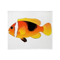 Fire Clownfish Throw Blanket