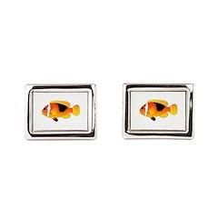 Fire Clownfish Rectangular Cufflinks