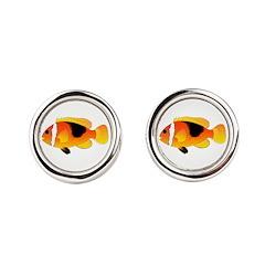Fire Clownfish Round Cufflinks