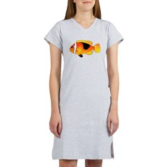 Fire Clownfish c Women's Nightshirt