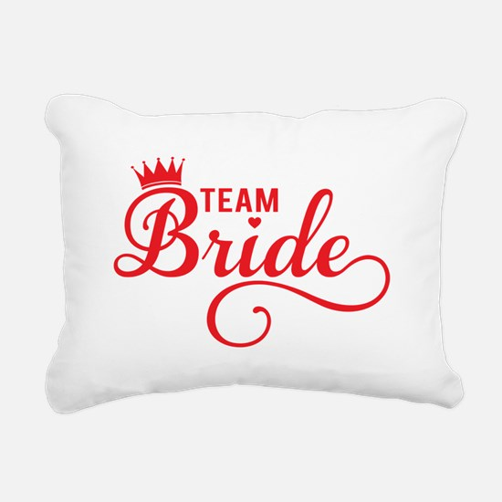 Team bride red Rectangular Canvas Pillow