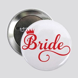 "Bride red 2.25"" Button"