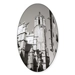 Gargoyles of La Catedral Sticker (Oval)