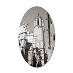 Gargoyles of La Catedral 35x21 Oval Wall Decal