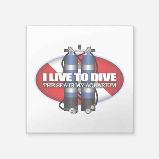 Live To Dive (ST) Sticker