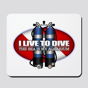 Live To Dive (ST) Mousepad