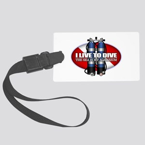 Live To Dive (ST) Luggage Tag