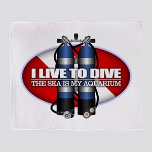 Live To Dive (ST) Throw Blanket