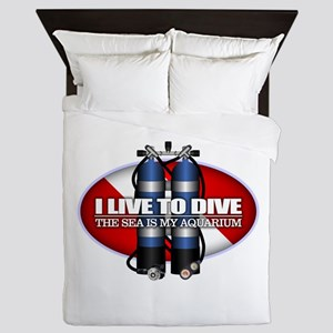 Live To Dive (ST) Queen Duvet