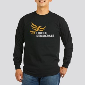 Liberal Democrats Long Sleeve Dark T-Shirt