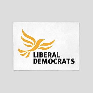Liberal Democrats 5'x7'Area Rug