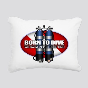 Born To Dive (ST) Rectangular Canvas Pillow
