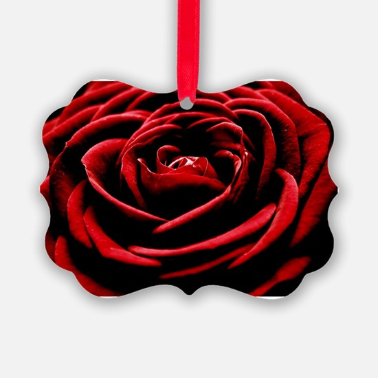 Single Red Rose Ornament