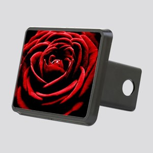 Single Red Rose Rectangular Hitch Cover