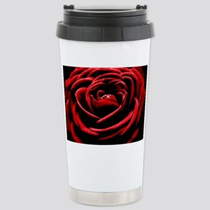 Single Red Rose Stainless Steel Travel Mug