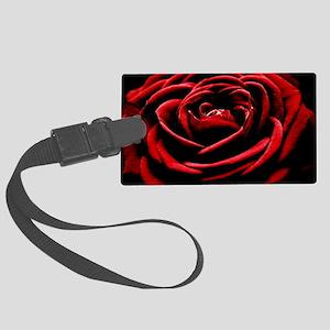 Single Red Rose Large Luggage Tag