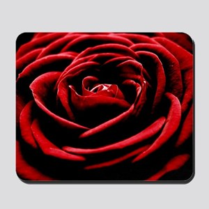 Single Red Rose Mousepad