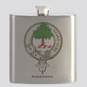 Anderson Clan Badge Flask