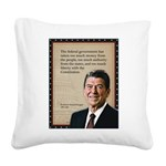 President Ronald Reagan Quote Square Canvas Pillow