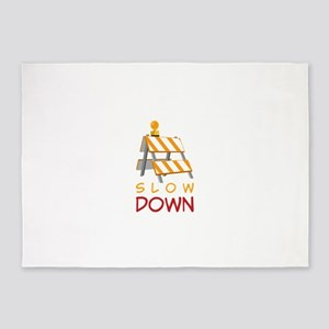 Slow Down Construction 5'x7'Area Rug