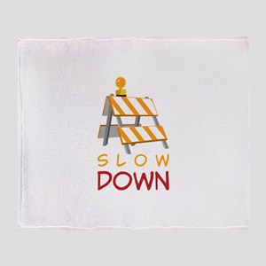 Slow Down Construction Throw Blanket