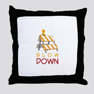 Slow Down Construction Throw Pillow