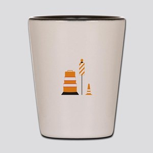 Construction Zone Cones Shot Glass