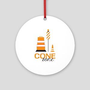 Cone Zone Ornament (Round)